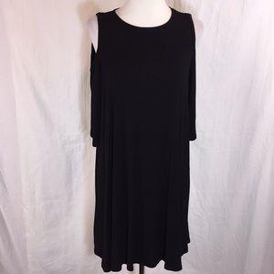 Bobeau Mini Cold-Shoulder Dress